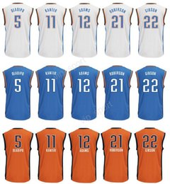 Wholesale Printed Victor Oladipo Jersey Men Sport Enes Kanter Andre Roberson Taj Gibson Steven Adams Basketball Jerseys Blue White