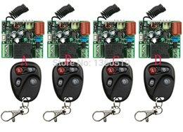 2017 control remoto 315 Venta al por mayor-NUEVO AC220V 1CH 10A Radio controlador inalámbrico de RF conmutador de control remoto 315 MHZ 433 MHZ teleswitch 4 Transmisor +4 receptor control remoto 315 oferta