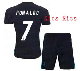 Top quality 2017 2018 Real Madrid kids home Away soccer jerseys 17 18 Real Madrid RONALDO BENZEMA JAMES BALE kids shirtTop quality 2017 2018