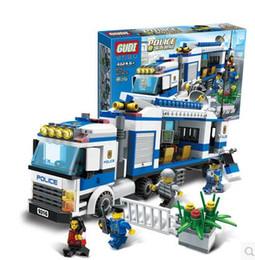 GUDI City Police Prisoner Transport Blocks ABS 407pcs Bricks Building Blocks Sets Model Educational Toys For Children