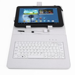 Wholesale PU Leather case keyboard support universal White Color Tablet PC quot inch apad epad Station