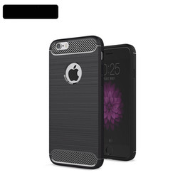 50pcs Phone Case For iphone 8 Environmental Carbon Fiber Soft TPU Anti-Skid Cover For iPhone 5s 6 7 7plus Skin Bag