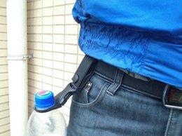 Promotion bouteilles d'eau mousqueton Vente en gros-EDC nylon Molle sac à bandoulière Crochet camping Carabiner bouteille d'eau Boucle Crochet titulaire