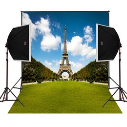 eiffel tower campus garden scenic photography backdrops for wedding photos props camera fotografica digital studio photo background vinyl