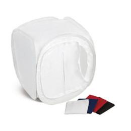 Promotion photo boîte de tente 40 * 40 * 40 cm Photo Tente légère de photographie de boîte pour le cube Softbox pour les accessoires de studio de caméra avec 4 backdrops