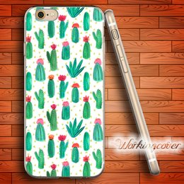 Capa Plants Flower Cactus Soft Clear TPU Case for iPhone 6 6S 7 Plus 5S SE 5 5C 4S 4 Case Silicone Cover.