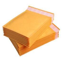 Descuento burbuja de papel kraft Venta al por mayor-Venta al por mayor 50pcs / lot fabricante Kraft bolsas de la burbuja envoltorios envueltos envoltura de papel 12x16cm