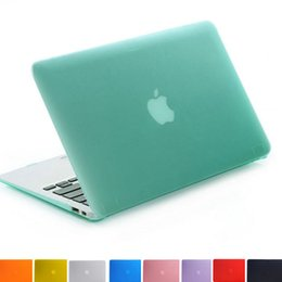 Macbook shell 13 en Ligne-NOUVEAU Housse en caoutchouc mat caoutchouté mat transparent pour Macbook Pro 13.3 15.4 Pro Retina 12 13 15 pouces Macbook Air 11 13 Laptop Shell
