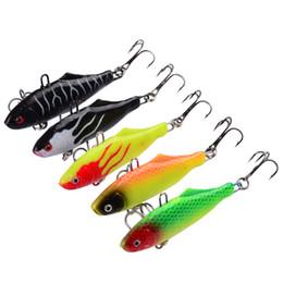 Acheter en ligne Poissons de silicone pour la pêche-5-couleurs Fishing Lure Hooks 6.3cm 15g Poisson de plomb de paquet Silicone Lures Soft Baits 8 # Crochet artificiel Pesca Tackle Accessoires