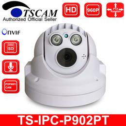 Descuento línea de hd TSCAM nuevo SP-P902PT MINI PTZ Cámara IP Dome HD 960P 1.3MP ONVIF Pan / Tilt Micro SD / TF Ranura para tarjetas Línea de audio P2P