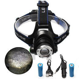 XML-T6 L2 Waterproof Chargeable High Brightness 10W 1000 Lumen LED Outdoor LED head fishing camping lamp Outdoor headlamp for 18650 battery