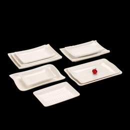 Wholesale 3 Hotel Home Use Melamine Rectangular dinnerware plate dishes melamine melamine tray white