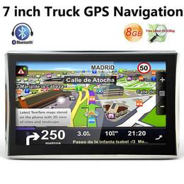 HD 7 inch Bluetooth Truck GPS Navigator Truck GPS Navigation AVIN FM WinCE 6.0 800MHZ 8GB IGO TTS 3D Maps