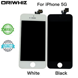 New Arrival Grand AAA Touch Digitizer Screen with Frame Assembly Replacement for iPhone 5 5G Lcd Real Photo Free DHL Shipping