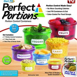 Wholesale Food Containers Preservation Box Perfect Portions Control Containers Food Storage Easy Way To Lose Weight Using Portion Hot Sell