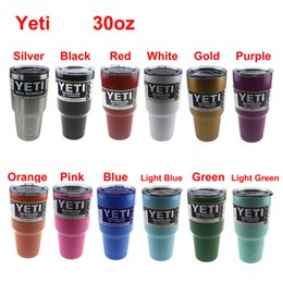 Wholesale 30oz Color Yeti Rambler Tumbler Stainless Steel Vacuum Insulated Cup Double Walled Travel Mug Car Cup