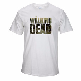 Wholesale Summer New Mens Clothing The Walking Dead T Shirt Cotton Short Sleeve Top Tees Novelty Design Movie Play T shirt