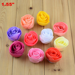 Free Shipping 30pcs lot Craft DIY Tulip Flowers for making Bouquet Wedding Party Embellishments, Fabric Flower without Clip Headbands H0207