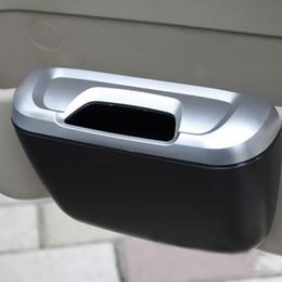 Compra Online Latas de papel-Venta al por mayor-Flip Tipo de Apertura Mini coche Basura Auto basura basura Puede polvo Astillas Papel Estuche Titular Bin vehículo Organizador Oficina Inicio