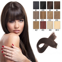 Tape in Hair Extensions Natural Color 8A Grade Brazilian Remy Straight 20pcs PU Skin Weft Hair Extensions Direct Factory Price Can Be Permed