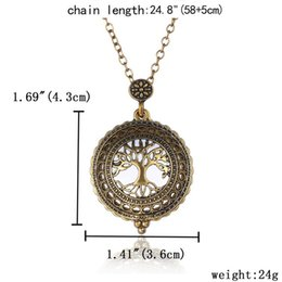 Wholesale FedEx Express New Gold Plated Antique Design Magnifying Glass Pendant Long Chain Necklace for friend children birthday gift