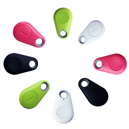 Wholesale iTag Bluetooth GPS Tracker Anti Lost Alarm Tracer Bluetooth Key Finder Locator Remote Control Shutter for all Smartphone with OPP Bag