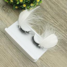 feather exaggeration False Eyelashes Natural False Curling Thick Eyelashes Fake Beauty Lashes Strips Makeup Tools Korean Cosmetics