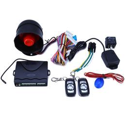 Descuento sistema de alarma a distancia un coche 2017 Sistema de alarma universal del coche 12V Sistema de protección de la seguridad de la alarma de ladrón del vehículo de una manera con 2 ladrones automáticos teledirigidos