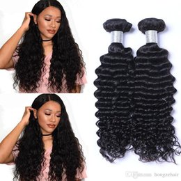Top Grade 8A Brazilian Virgin Bundles Deep Wave Curly Hair Weft Peruvian Indian Malaysian Human Hair Extensions Dyeable Free Shipping