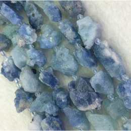 Wholesale Natural Genuine Blue Aquamarine Nugget Free Form Rough Matte Faceted Loose Big Beads mm quot