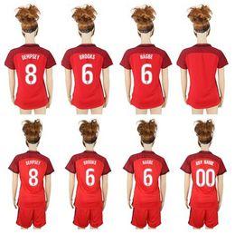 2018 USA Womens Soccer Jerseys NAGBE BROOKS DEMPSEY 17 18 Football Shirt Uniforms Kit Sets Retro Jersey Wholesale National Team Thai Quality