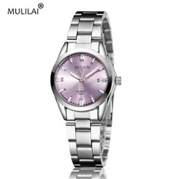 MULILAI brand new model M096 fashion diamond office workers exclusive pink set female female ladies dress dress reloj mujer