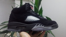 Men 5s OG Black Metallic Silver Basketball shoes Women 5 sneakers Outdoor sports trainer wholesale prices on sale size 36-47