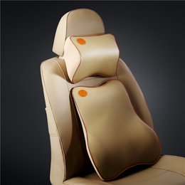 Waist cushion + neck pillow can protect the safety of occupants and eliminate fatigue Car memory pillow 27*22*12cm