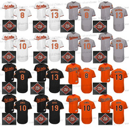 Wholesale 2017 Commemorative Patch th Men s Baltimore Orioles Adam Jones Manny Machado Cal Ripken Chris Davis baseball jerseys Stitched