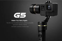 Wholesale New Feiyu G5 Handheld Gimbal for GoPro HERO5 Xiaomi yi k SJ AEE Action Cams Splashproof Bluetooth enabled control Humanized