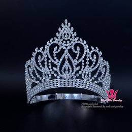 Wholesale Beauty Pageant Award Gold Contoured Adjustable Crown And Tiara Rhinestone Crystal Bridal Wedding Hair Jewelry Classic Silver Gold Mo023