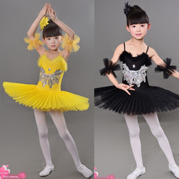 Girl Ballet Tutu Costume Children Sequins White Swan Lake Dance Dress Kids Dance Leotard Girl Dancewear Allet Dress Clothing