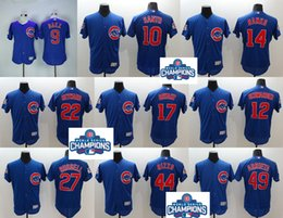 Wholesale Mens Elite Chicago Cubs Kris Bryant Anthony Rizzo Jake Arrieta Javier Baez Kyle Schwarber Flexbase Baseball Stitched Jerseys