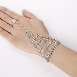 2017 Europe Fashion Silver Tassel Rhinestone Bracelet Jewelry Vintage For Women Ladies The girl a gift