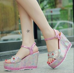 Summer new wedge heel ms thick bottom fish mouth thick with flat joker elegant cool shoes