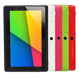 Promotion tablette pc 8gb Vente en gros - 5 couleurs 8GB Q88 7 pouces Tablette PC Allwinner A33 Quad-core 512 Mo / 8 Go 1024 x 600 Quad Camera WIFI 2500mAh tablette