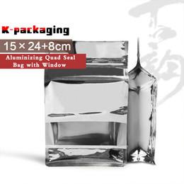 5 PCS 15x24cm Aluminum Foil Square Bottom Bags   Foil Packaging Products   Foil Zip Lock Bags
