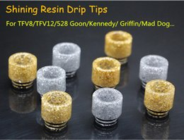 New Arrival TFV12 Drip Tips Shining Resin Drip Tips Epoxy Mouthpieces Shining Glowing for Kennedy 24 Goon Mad Dog AV Battle RDA