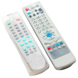2017 silicone covers for remote controls Vente en gros - Housse de protection pour télécommande télécommandée à 2 PCS Silicone transparent silicone covers for remote controls à vendre
