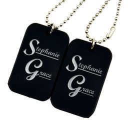 Wholesale 50PCS Lot Stephanie Grace Silicone Dog Tag Necklace with 24 Inch Ball Chain Perfect Gift for Music Fans