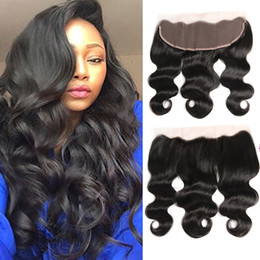 Beauty Hair Peruvian Body Wave Lace Frontal 13*4 Ear To Ear Free Part 130% Density Lace Closure Non Remy Human Hair Free Shipping