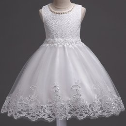 Lovely White Flower Girl Dresses for Summer Weddings A Line Crew Neck Appliqued Beaded Short Girls Formal Wear Gowns Birthday Party