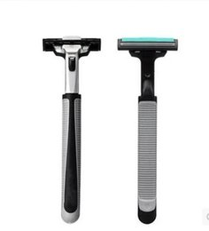 Gemini, double-layer manual razor old-fashioned razor man double-layer blade 60 knife to send knife holder
