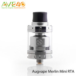 Wholesale Augvape Merlin Mini RTA Atomizer ml Capaticy fit SMOK arshal Mod Authenic